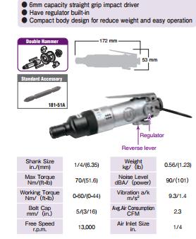 信浓SI-1052气动螺丝刀 图片一