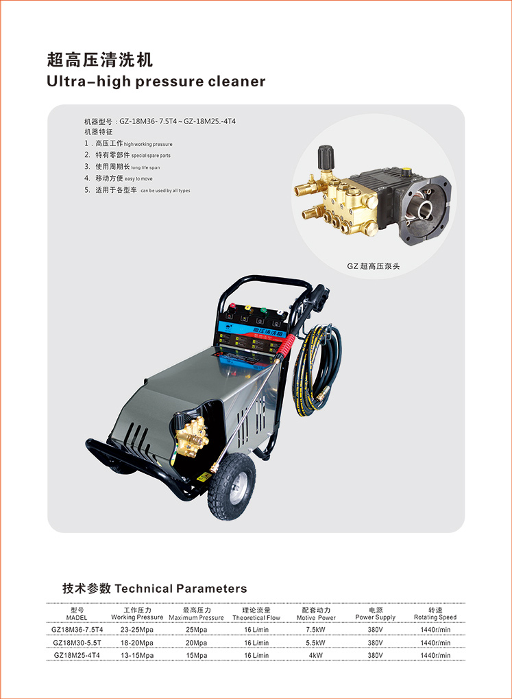 GZ-18M36-7.5T大流量超高压清洗机图片一