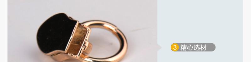 5#滚电尼龙拉头、圆圈(浅金色)图片二十八