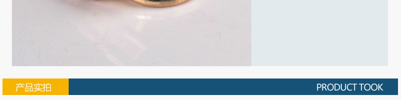 5#滚电尼龙拉头、圆圈(浅金色)图片二十九