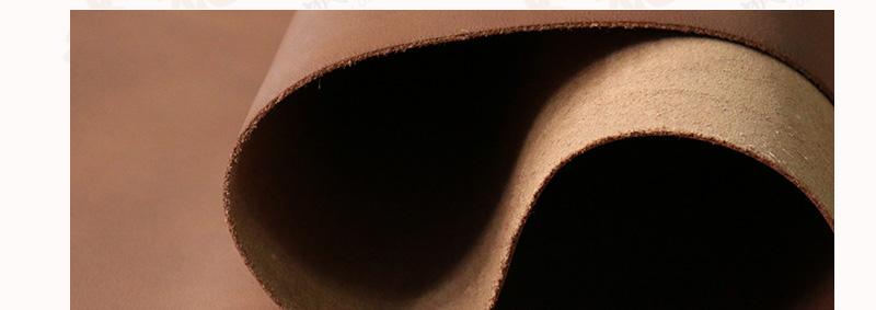 牛头层磨砂油蜡皮 浅啡色图片十三