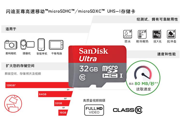 SanDisk闪迪至尊高速32G导航卡存储卡图片二