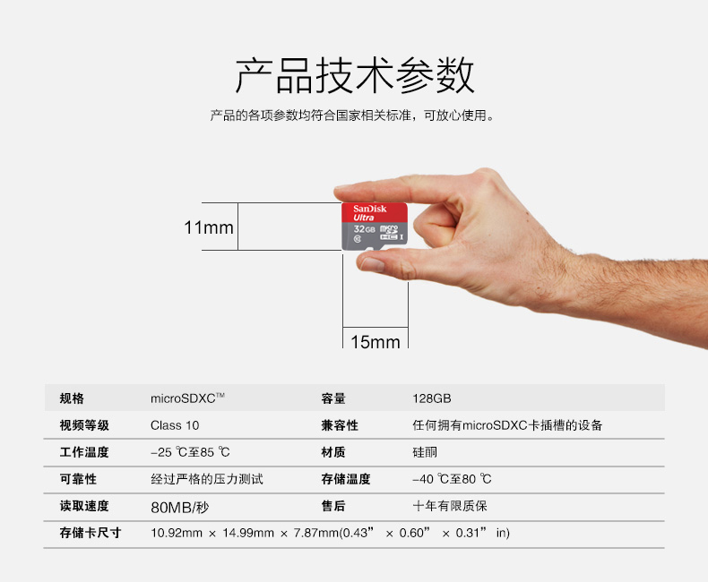 SanDisk闪迪至尊高速32G导航卡存储卡图片六