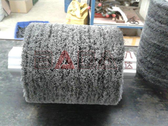 磨料丝毛刷辊.磨料丝抛光辊.哈尔磨料丝刷辊图片二
