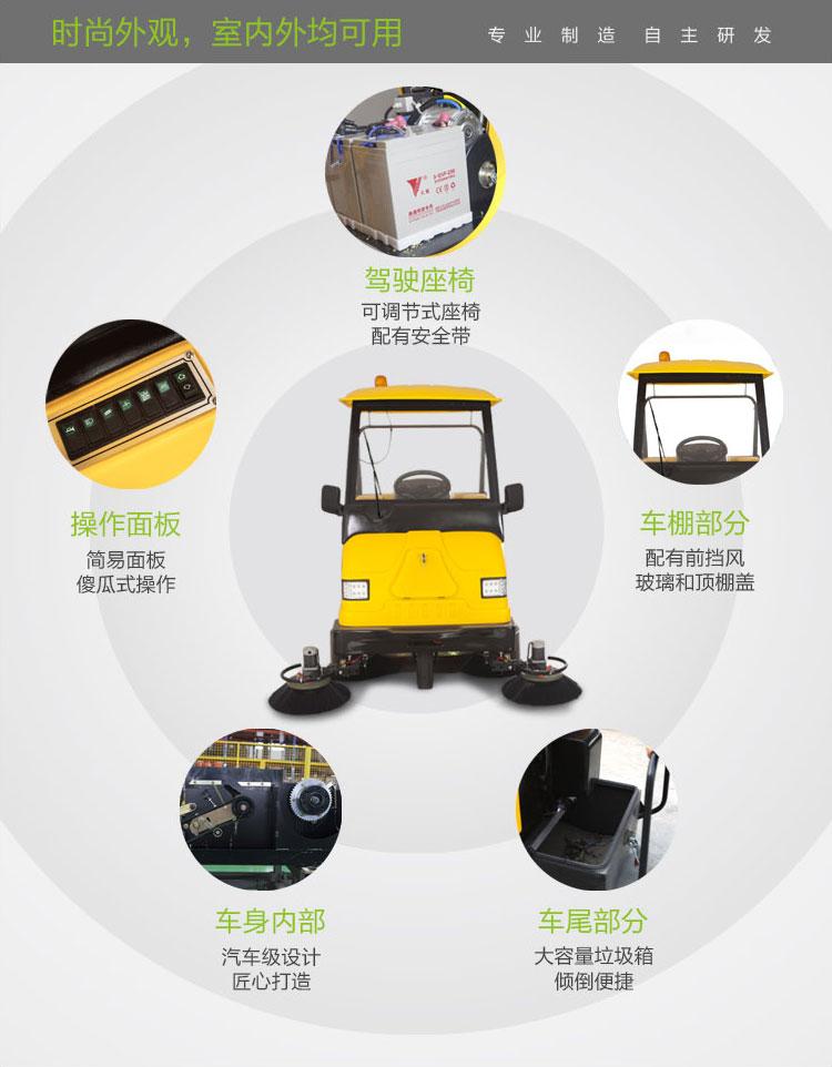 兰州扫地机MN-E800W明诺园区清扫车 市政环卫 畅销款扫地机 耐用又实惠图片二