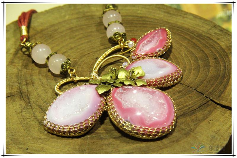 印尼 花与石项链磨砂花与爱丽丝项链 梅花吊坠 0202555图片二