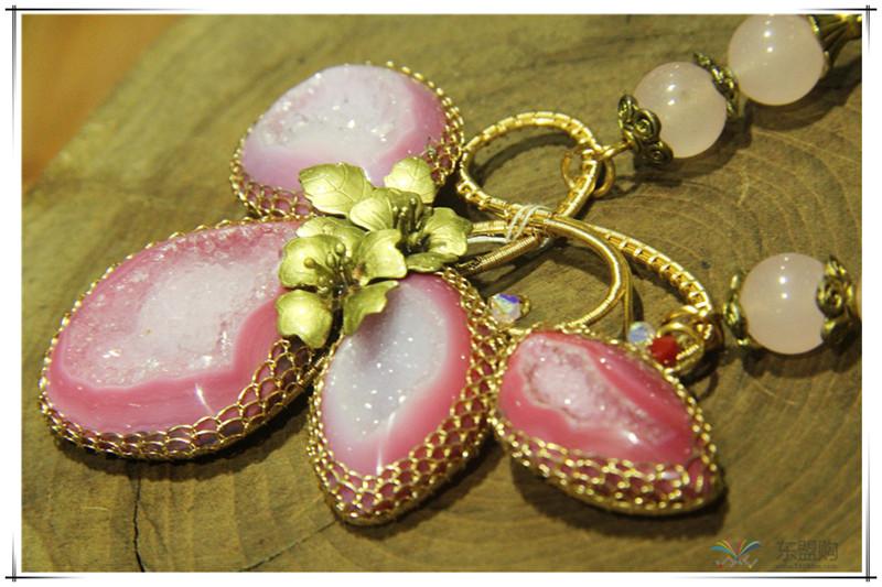 印尼 花与石项链磨砂花与爱丽丝项链 梅花吊坠 0202555图片三