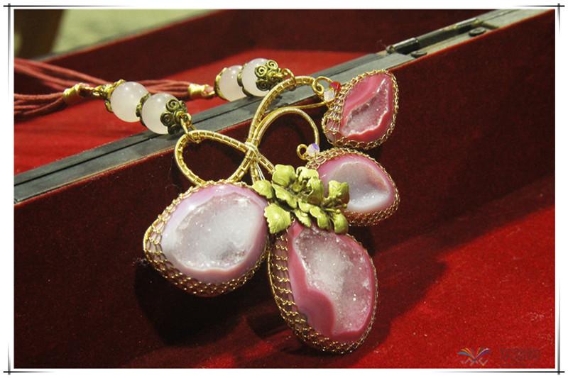印尼 花与石项链磨砂花与爱丽丝项链 梅花吊坠 0202555图片五