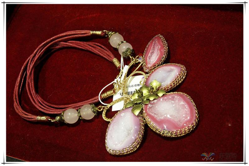 印尼 花与石项链磨砂花与爱丽丝项链 梅花吊坠 0202555图片六
