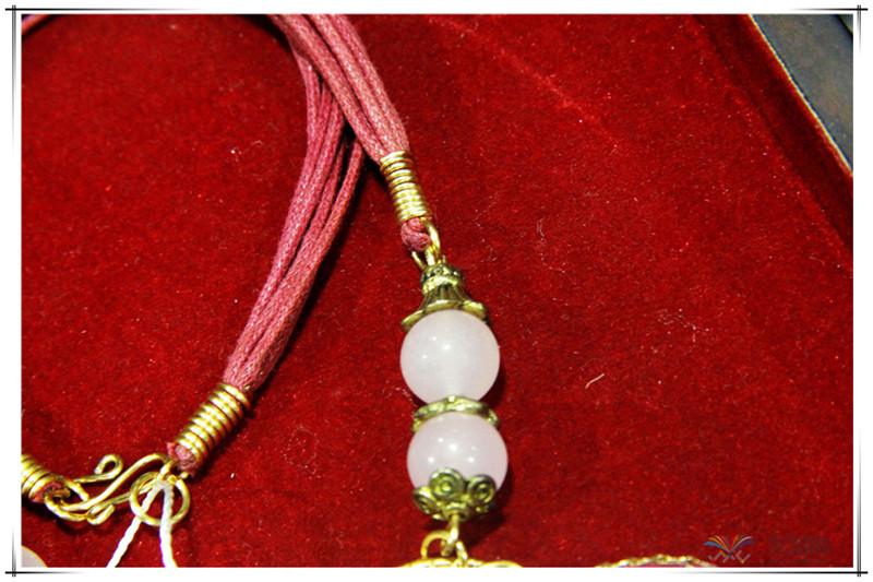 印尼 花与石项链磨砂花与爱丽丝项链 梅花吊坠 0202555图片七