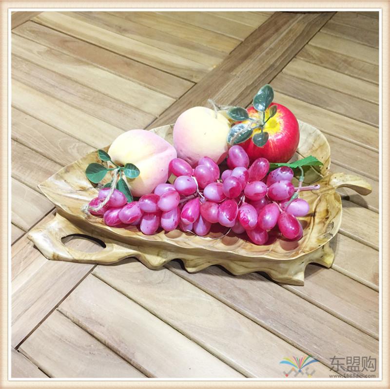 印尼 柚木叶片造型水果盘 0201104图片三