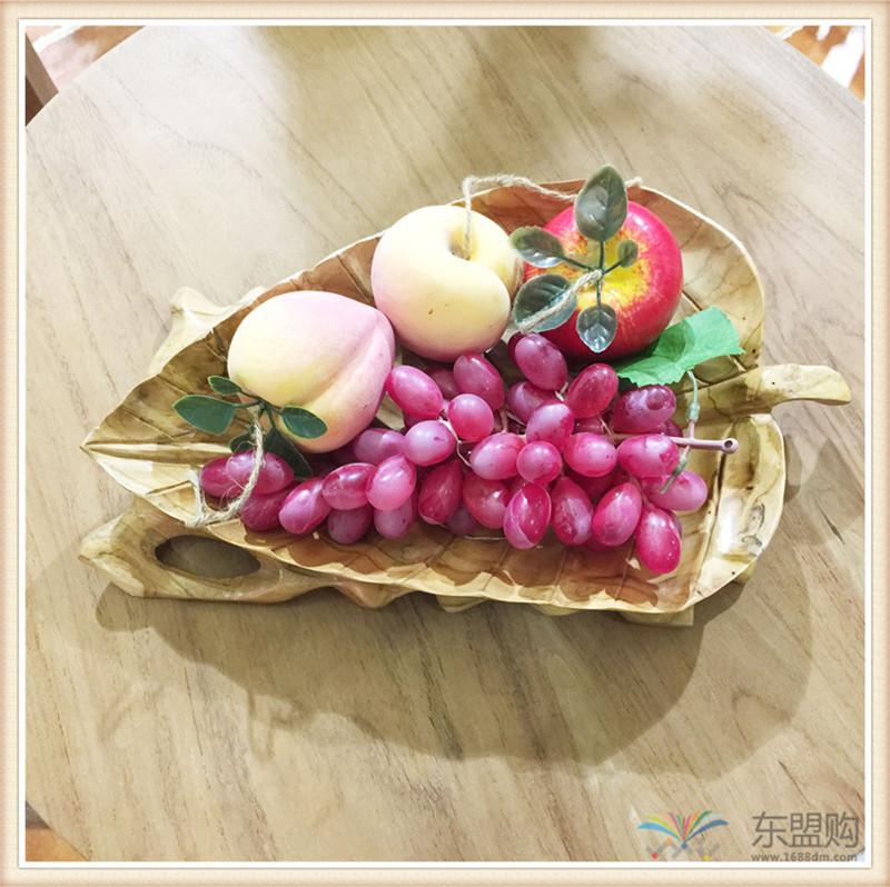 印尼 柚木叶片造型水果盘 0201104图片二