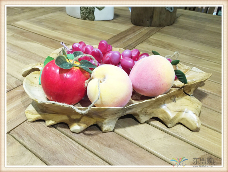 印尼 柚木叶片造型水果盘 0201104图片四