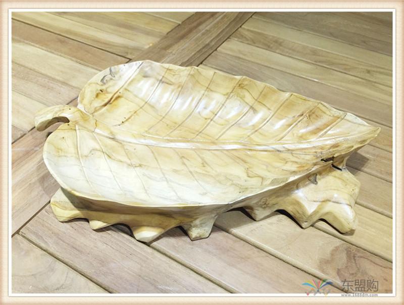 印尼 柚木叶片造型水果盘 0201104图片六