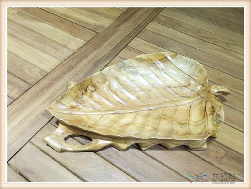 印尼 柚木叶片造型水果盘 0201104图片十