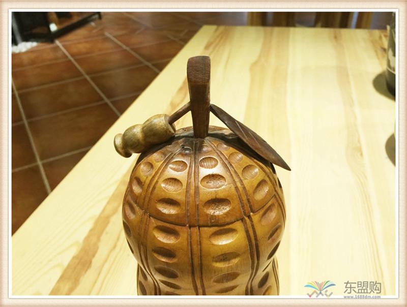 印尼 柚木工艺品花生摆件 0200964图片三