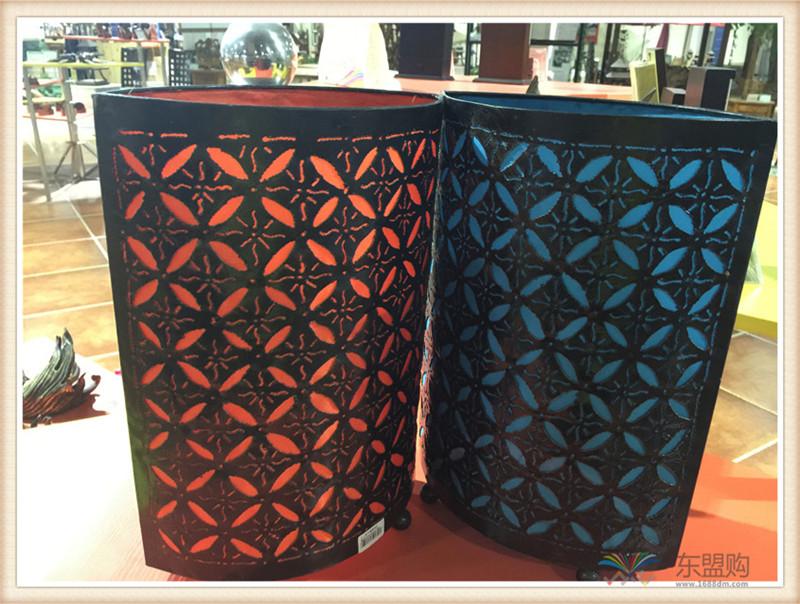 印尼 手工铁艺椭圆形灯罩 家居饰品 0202609图片九