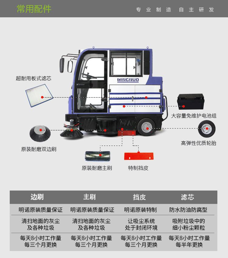 新疆封闭式扫地机MN-E800LC电瓶扫地车,大空间扫地更舒适,大容量尘箱更省时图片八