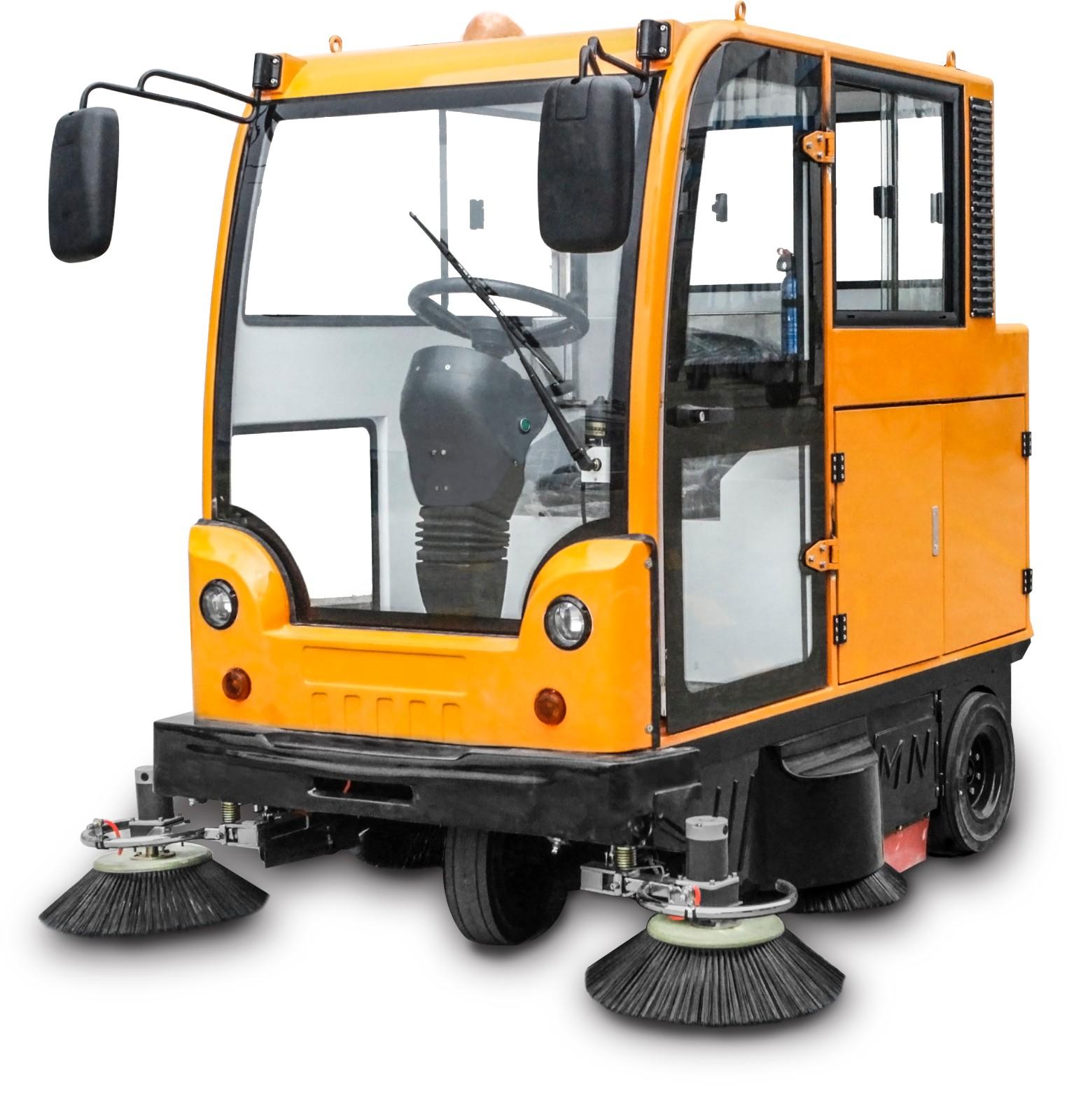 新疆封闭式扫地机MN-E800LC电瓶扫地车,大空间扫地更舒适,大容量尘箱更省时图片二
