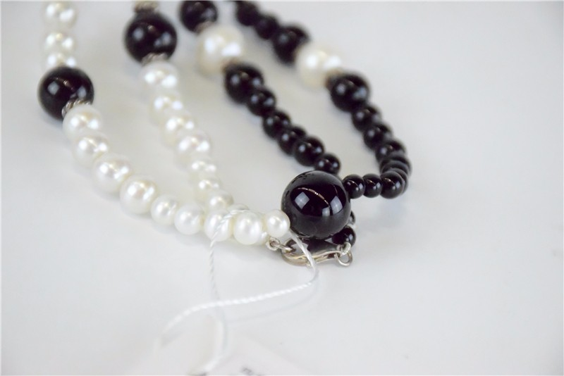 柬埔寨 玛瑙珍珠镶嵌项链JE046  0203784图片四