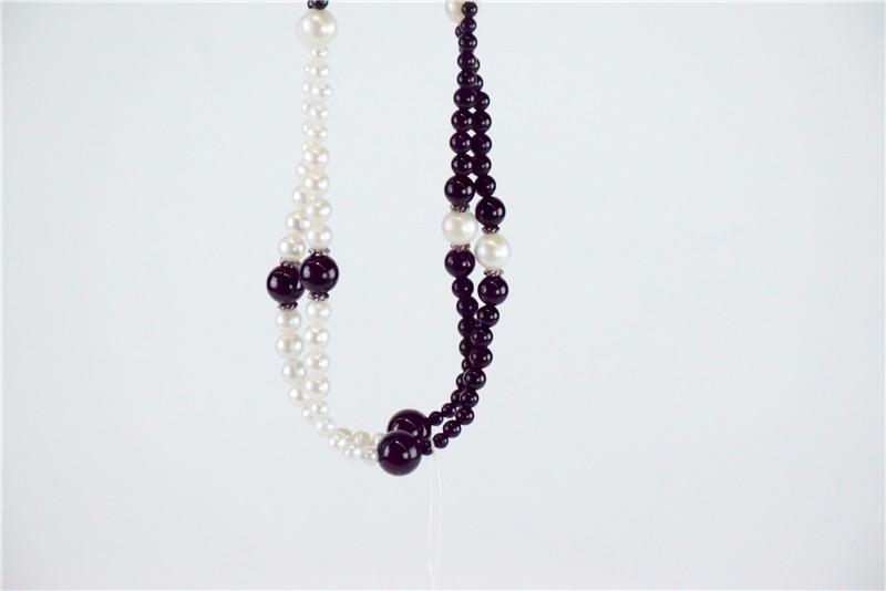 柬埔寨 玛瑙珍珠镶嵌项链JE046  0203784图片六