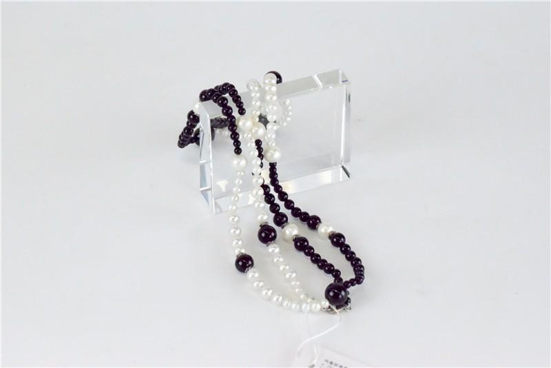 柬埔寨 玛瑙珍珠镶嵌项链JE046  0203784图片五