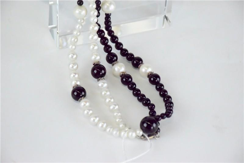 柬埔寨 玛瑙珍珠镶嵌项链JE046  0203784图片二