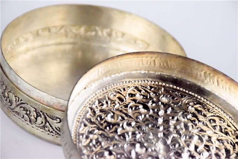 柬埔寨  圆形花盒子 0203563图片四