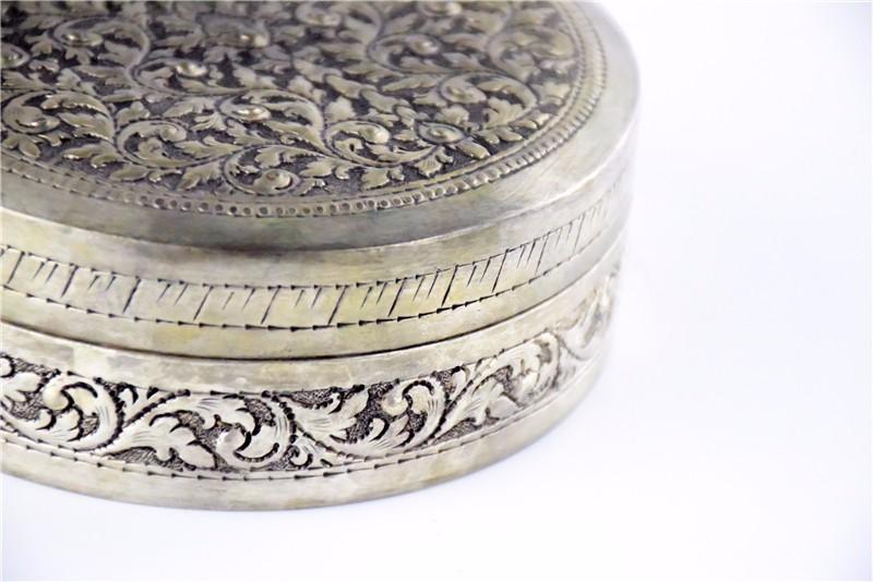 柬埔寨  圆形花盒子 0203563图片七