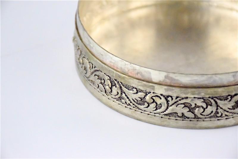 柬埔寨  圆形花盒子 0203563图片五