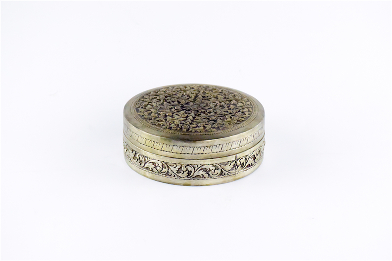 柬埔寨  圆形花盒子 0203563图片一
