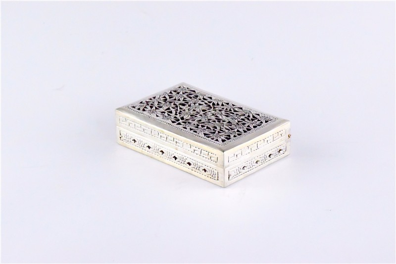 柬埔寨 银质花盒子 0203559图片二