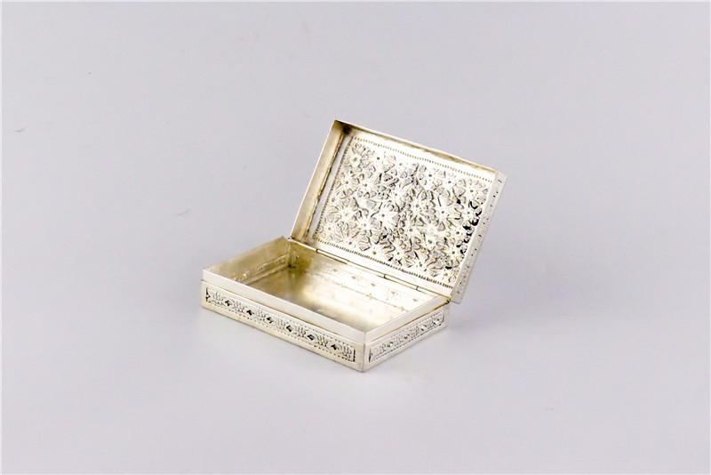 柬埔寨 银质花盒子 0203559图片四