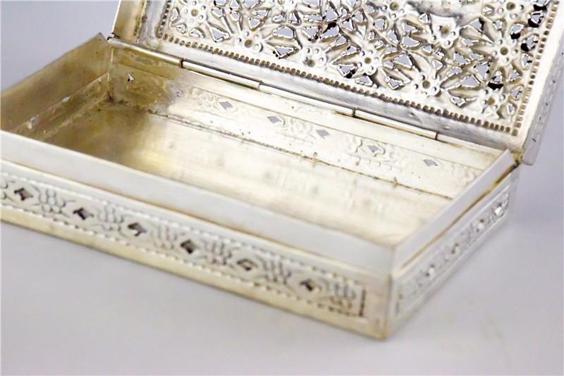 柬埔寨 银质花盒子 0203559图片七
