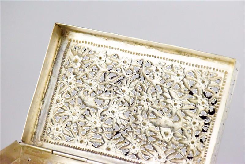 柬埔寨 银质花盒子 0203559图片六