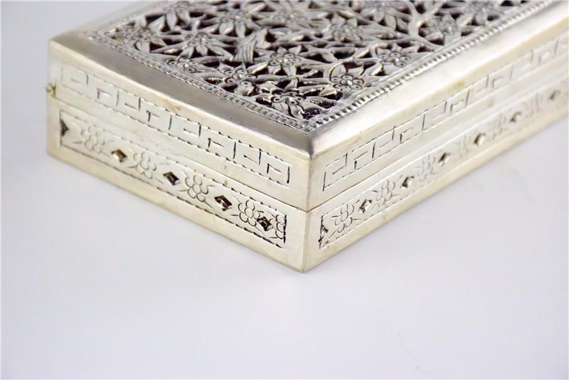 柬埔寨 银质花盒子 0203559图片八