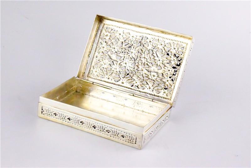 柬埔寨 银质花盒子 0203559图片五