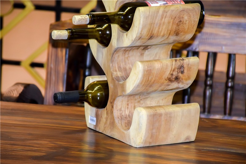 印尼  柚木红酒架6位 0209169图片五