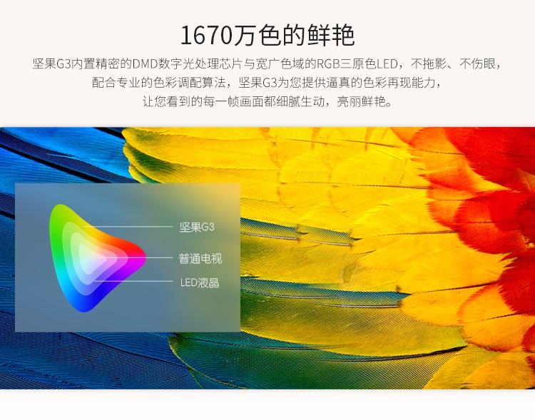 坚果(JmGO)G3 家用 投影机 投影仪  800P高清分辨率图片十一
