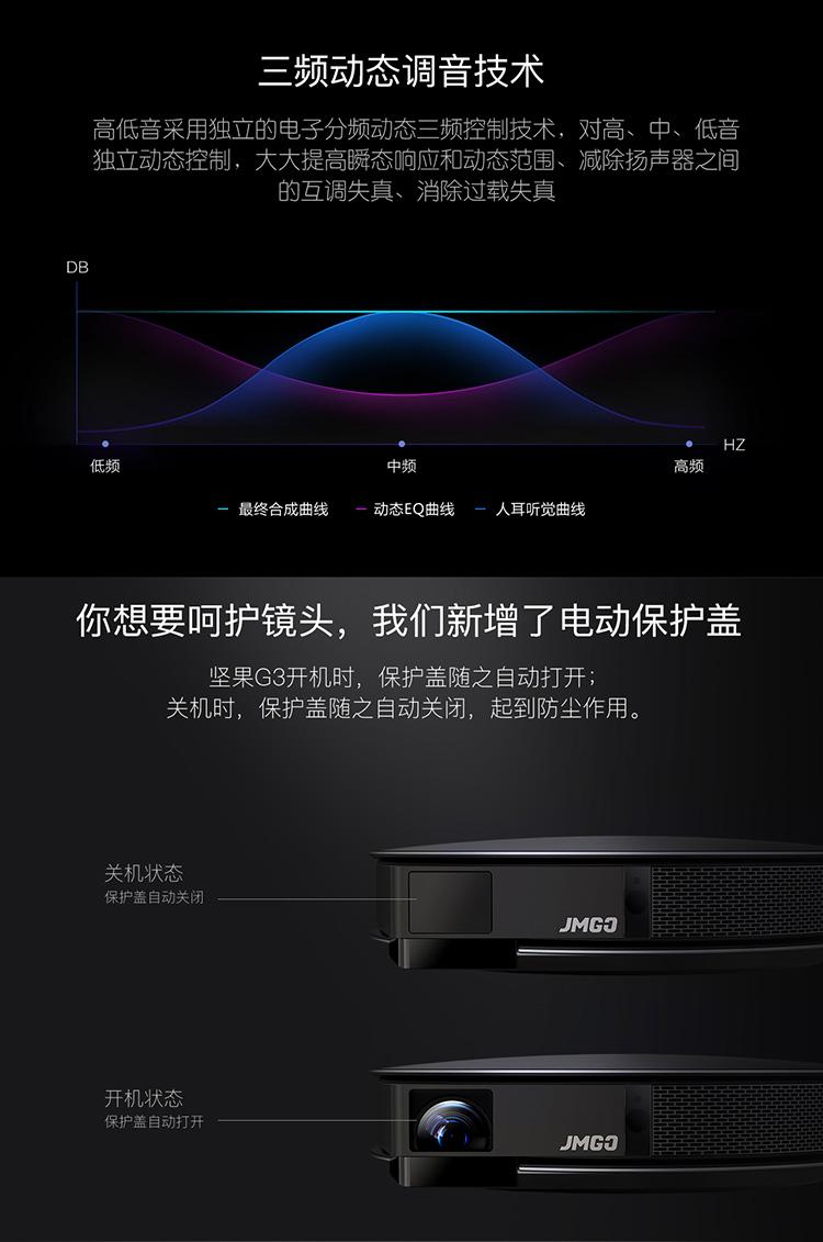 坚果(JmGO)G3 家用 投影机 投影仪  800P高清分辨率图片十九
