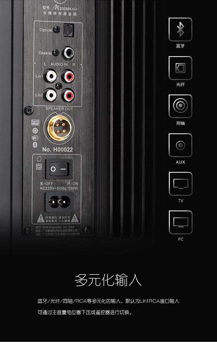 惠威(HiVi)M200MKIII+ HIFI有源2.0音箱 蓝牙电脑电视音箱图片二十