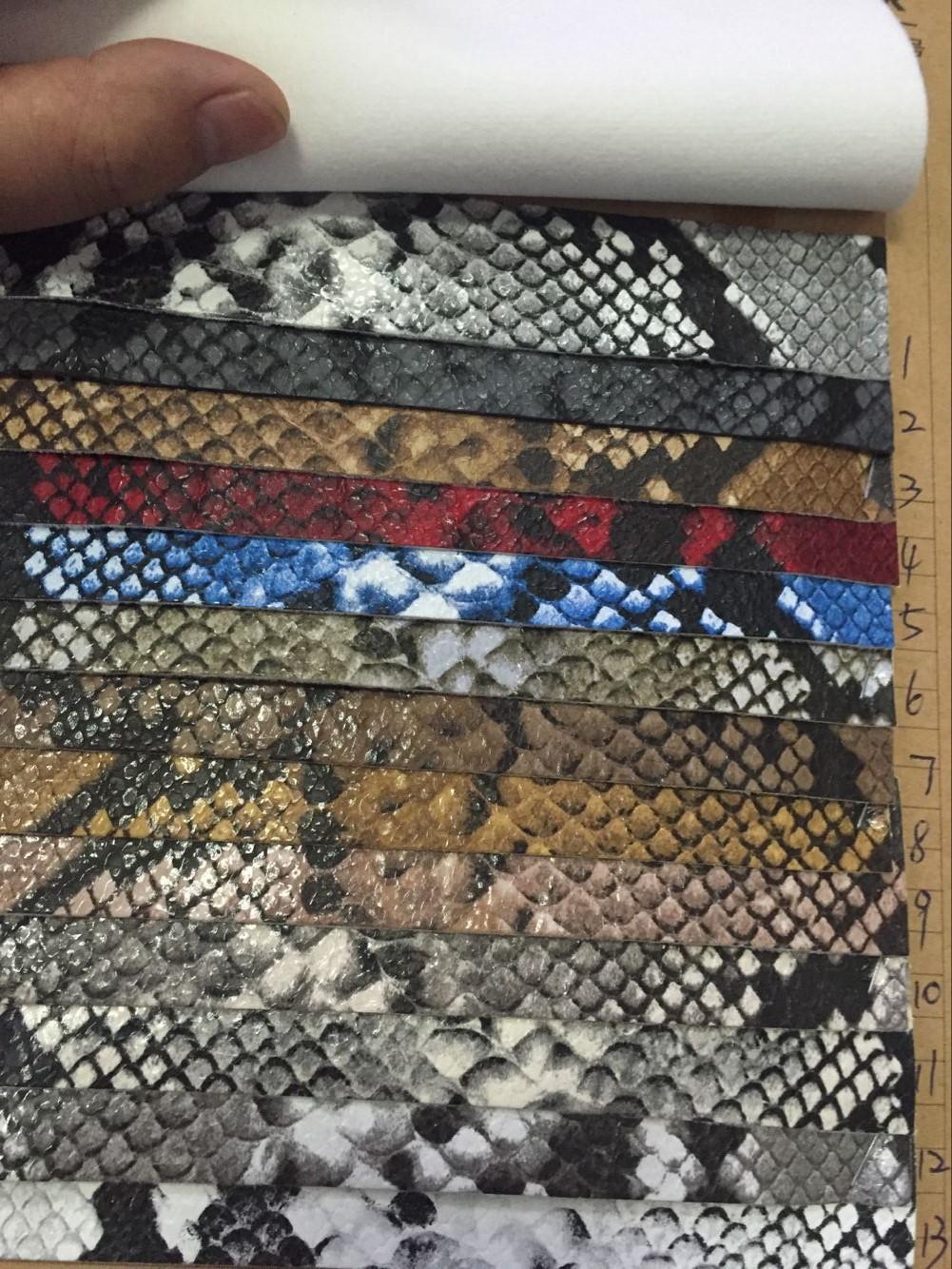 鳄鱼纹PU仿皮图片一