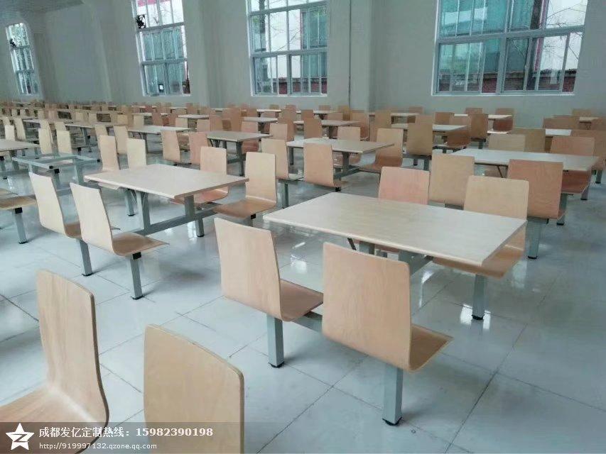 快餐桌椅,食堂餐桌椅,食堂快餐桌椅厂家图片二