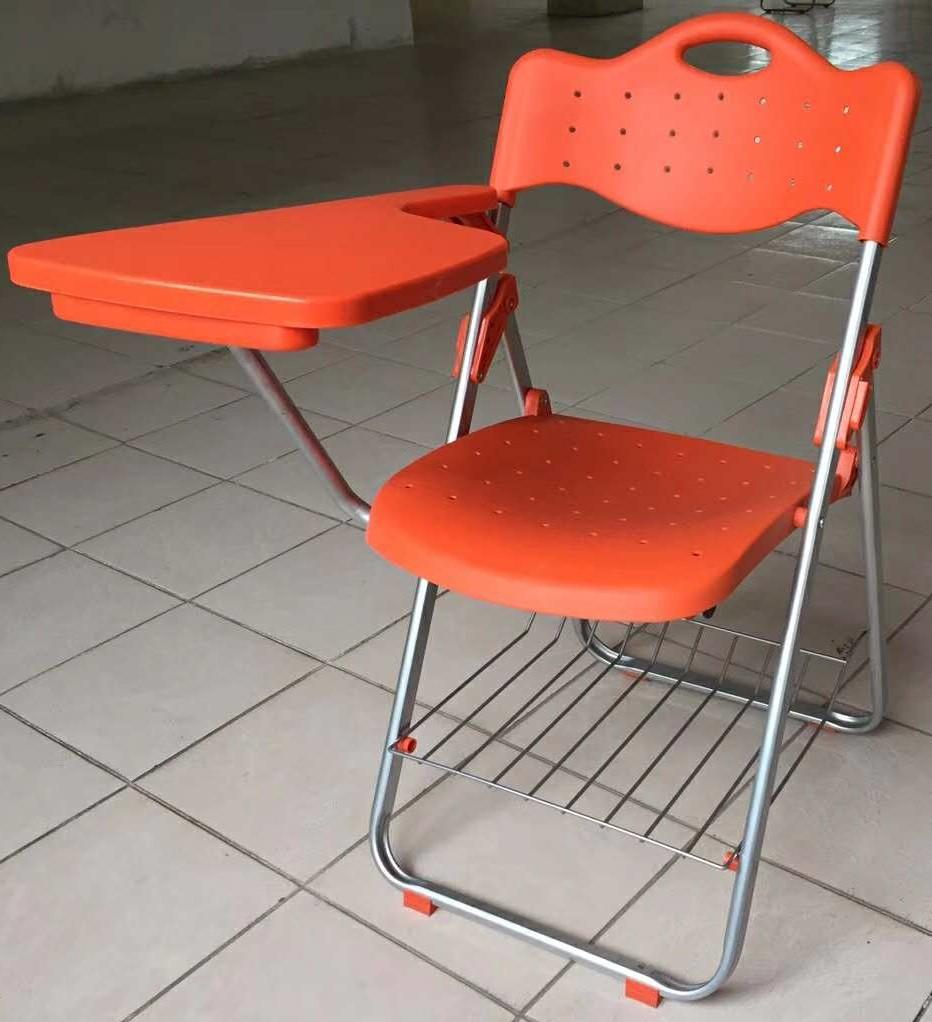 折叠培训椅,塑料培训椅,多层板培训椅,带写字板培训椅图片二