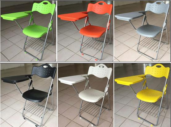折叠培训椅,塑料培训椅,多层板培训椅,带写字板培训椅图片三