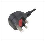英国BS认证插头电源线,三极电源插头