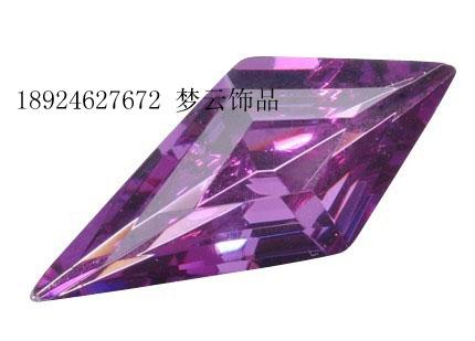 加工定做长菱形水晶宝石大图一