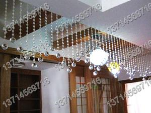 水晶珠帘,水晶吊球,水晶灯饰球,白色珠帘