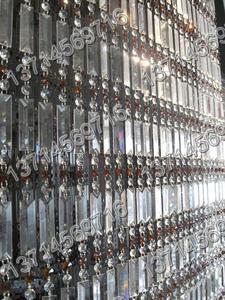 水晶珠帘,水晶方片,四方条,八角珠