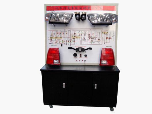操纵开关及按钮,可真实演示汽车灯光系统的工作过程